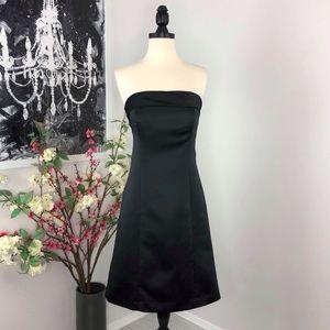 Vera Wang Strapless Satin Dress